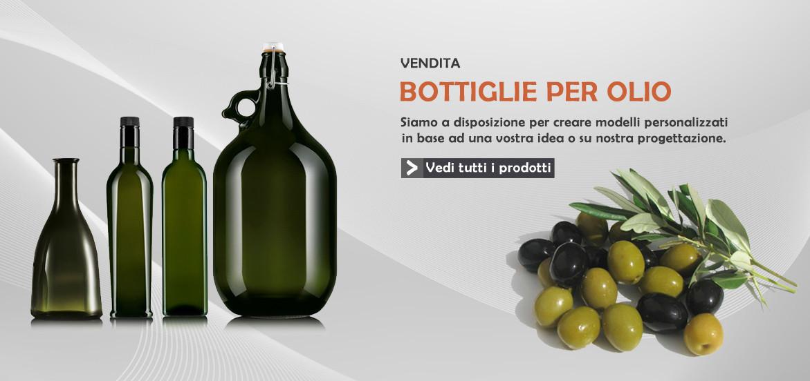 Vendita bottiglie per olio